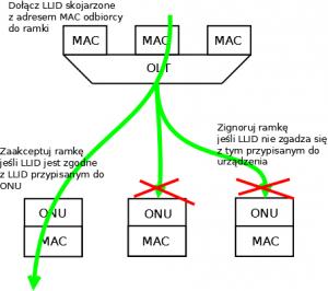 Komunikacja downstream w sieci GEPON